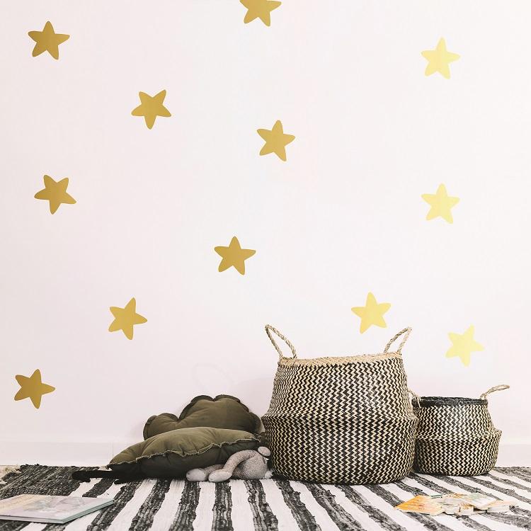 Komplet dekorativnih stenskih nalepk zvezdice