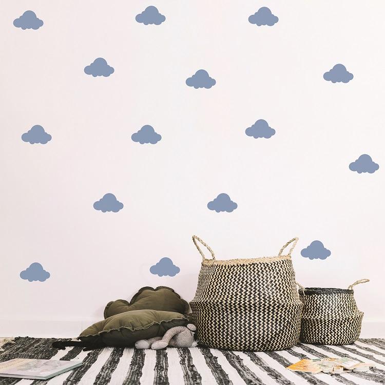 Komplet dekorativnih stenskih nalepk Oblački