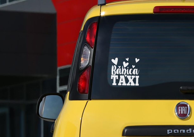 Avto nalepka - Babica taksi